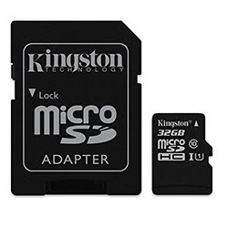 image produit Kingston Micro SDHC 32Go Class 10 + Adapt SDCS/32GB Cybertek