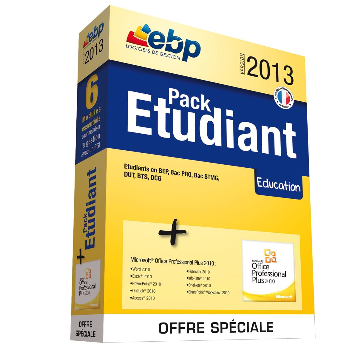 EBP Pack Etudiant 2013 (1114R040FAF) - Achat / Vente Logiciel Application sur Cybertek.fr - 0