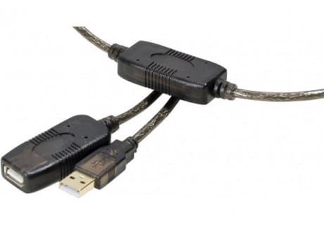 No Name Rallonge USB2.0 amplifiée (149220) - Achat / Vente Connectique PC sur Cybertek.fr - 0