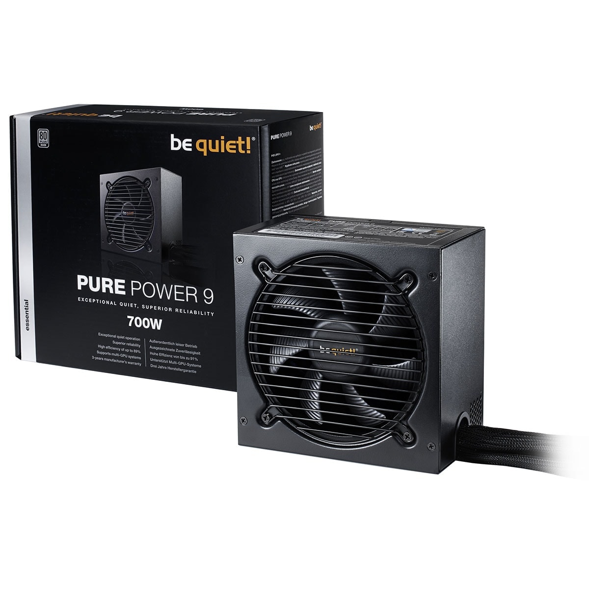 Be Quiet! 700W Pure Power L9 BN265 (BN265 --) - Achat / Vente Alimentation sur Cybertek.fr - 2
