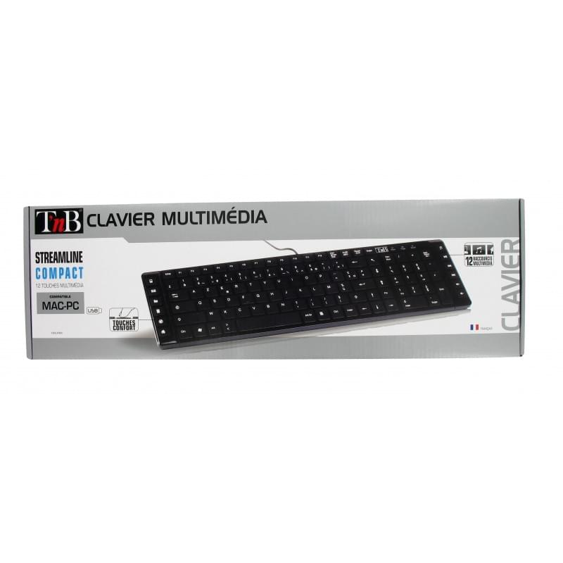 T'nB Streamline Slim Multimedia KBSUMBK - Clavier PC T'nB - 0