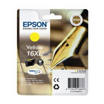 Cartouche d'encre Jaune 16XL - T1634 pour imprimante Jet d'encre Epson - 0