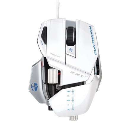 Souris PC Saitek Cyborg R.A.T 7 Contagion - Blanche - 0