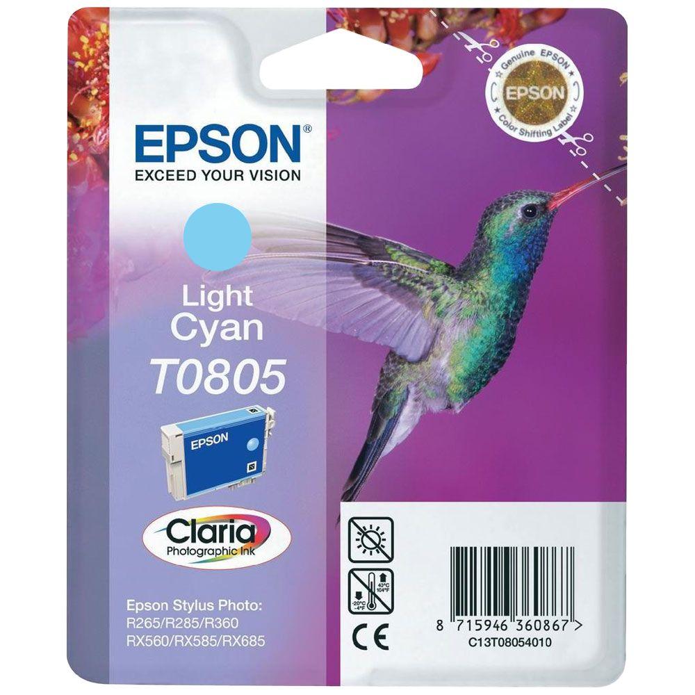 Cartouche Claria T0805 Cyan clair pour imprimante Jet d'encre Epson - 0