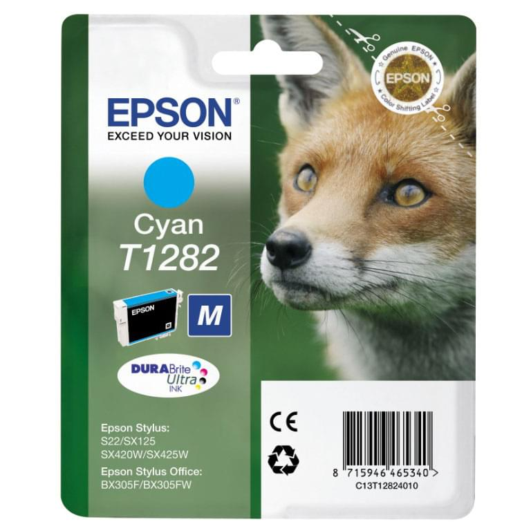 Cartouche T1282 Cyan pour imprimante Jet d'encre Epson - 0