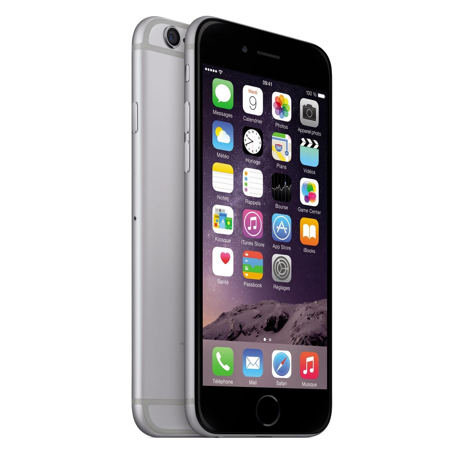 Apple iPhone 6 16Go Gris Sidéral (MG472ZD/A) - Achat / Vente Téléphonie sur Cybertek.fr - 0