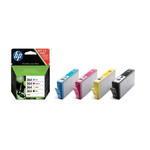 Pack Cartouches Noire + Couleur HP 364 - J3M82AE pour imprimante Jet d'encre HP - 0