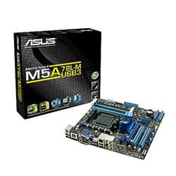 Asus Carte Mère M5A78L-M/USB3 - A760G/SKAM3/DDR3/PCI-E/mATX Cybertek