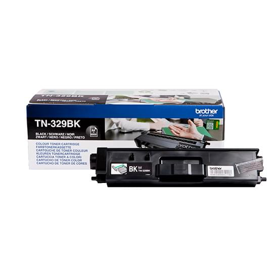 Toner Noir TN-329BK 6000p. pour imprimante Laser Brother - 0