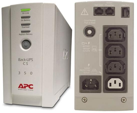 APC Back UPS 350VA BK350EI (BK350EI) - Achat / Vente Onduleur - Multiprises sur Cybertek.fr - 0