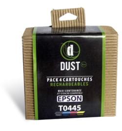 DUST Eco Pack 4 cart. rechargeables T0445 - Cybertek.fr - 0