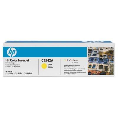 Toner Jaune 1400p - CB542A pour imprimante Laser HP - 0
