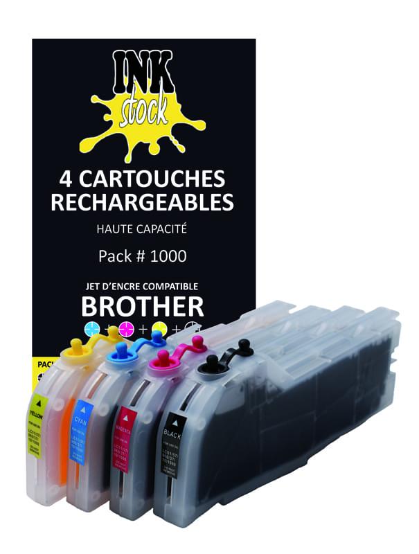 InkStock Pk 4 cart. recharg. LC51/37/960/970/1000 - Cybertek.fr - 0