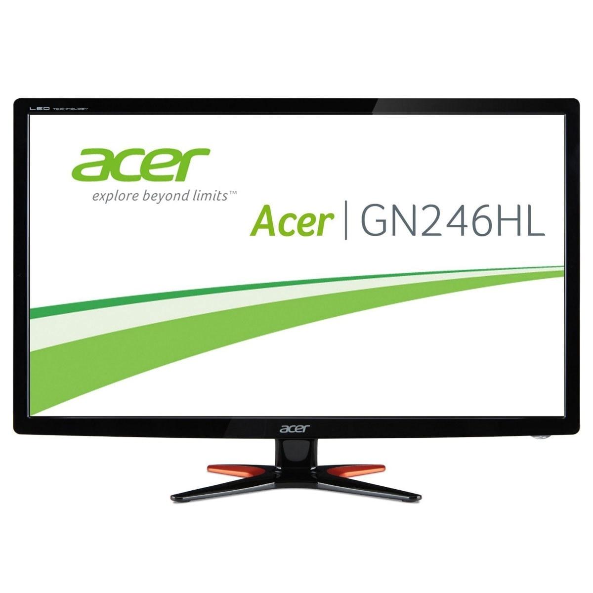 "Acer Predator GN246HLB - 24"" LED/FHD 3D/1ms/Black (UM.FG6EE.B06 **) - Achat / Vente Ecran PC sur Cybertek.fr - 0"
